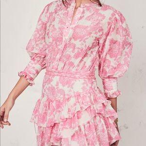 Brand New LoveShackFancy Lorelei Dress in pink gem
